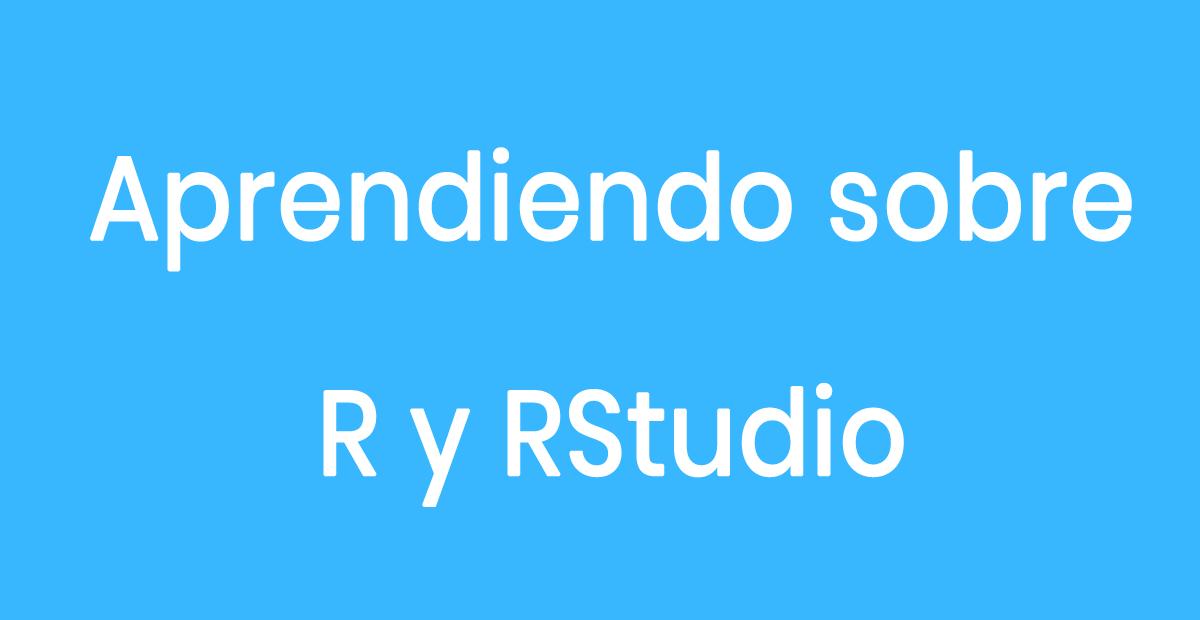 Curso completo del uso de R